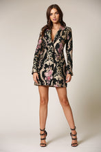 Load image into Gallery viewer, DOUBLE BREASTED JACQUARD BLAZER DRESS