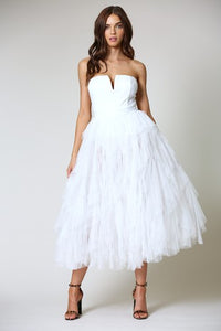PARTY TULLE MAXI DRESS