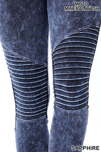 MINERAL WASHED MOTO LEGGING