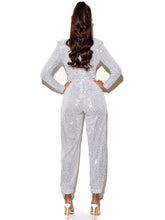 Load image into Gallery viewer, TASHA SEQUIN JUMPSUIT