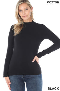 LONG SLEEVE MOCK NECK TOP