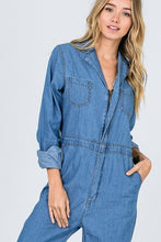 Load image into Gallery viewer, DENIM UTILITY JUMPSUIT