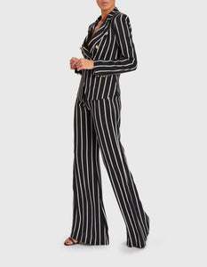 FOREVER UNIQUE CARA STRIPED BLAZER