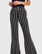 Load image into Gallery viewer, FOREVER UNIQUE CORINE STRIPED FLARED TROUSERS