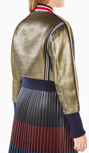 BCBG ANDREAS METALLIC BOMBER JACKET