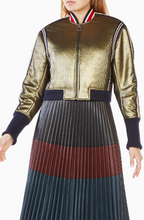 Load image into Gallery viewer, BCBG ANDREAS METALLIC BOMBER JACKET