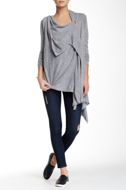 LOVE STITCH ASYMMETRICAL ZIP CARDIGAN