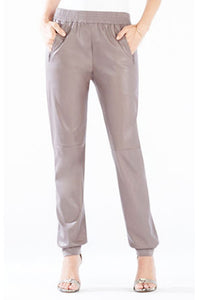 BCBG SUGI FAUX LEATHER JOGGERS