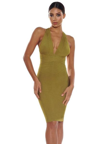 GENESIS HALTERED BANDAGE DRESS