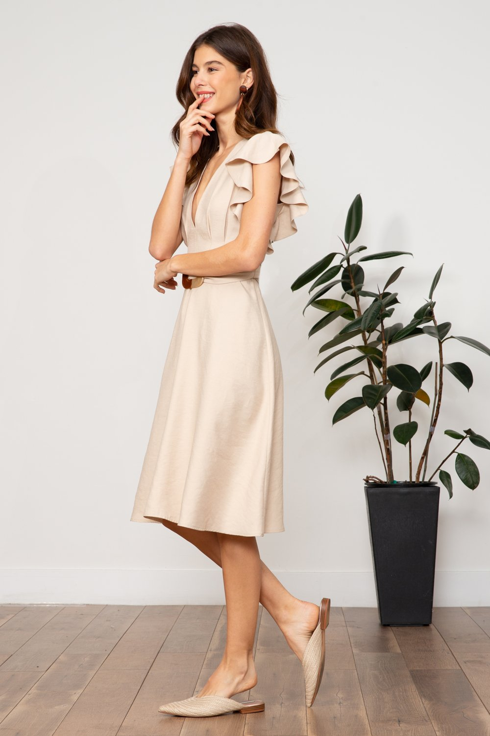 922cfa7f59 Load image into Gallery viewer, LUCY PARIS CELESTE BELTED DRESS ...
