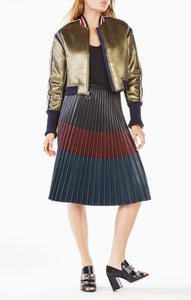 Andreas Metallic Bomber Jacket by BCBG