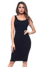 Load image into Gallery viewer, SCOOP NECKLINE BODYCON DRESS BLACK