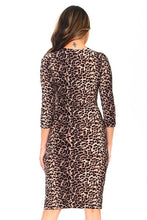 Load image into Gallery viewer, PLUS BASIC LEOPARD BODYCON MIDI DRESS