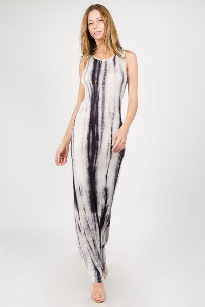 KNIT TYE DIE MAXI DRESS
