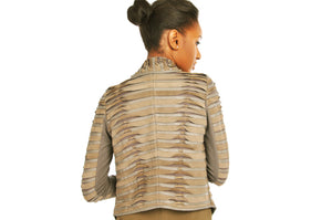 MY TRIBE PLEATED LEATHER JACKET