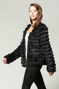 SHAGGY FRINGE CHAIN DETAILED COAT