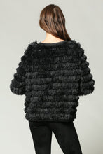 Load image into Gallery viewer, SHAGGY FRINGE CHAIN DETAILED COAT