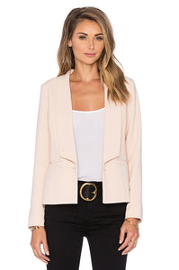 GREYLIN KRISSA PLEATED BACK WOVEN BLAZER