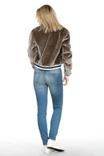 Load image into Gallery viewer, TRIM BOMBER FUR JACKET