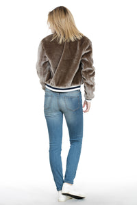 TRIM BOMBER FUR JACKET