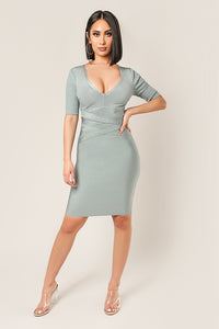 BANDED BODYCON DRESS
