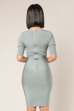 Load image into Gallery viewer, BANDED BODYCON DRESS