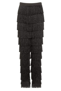 LAVISH ALICE FRINGE TAPERED TROUSERS