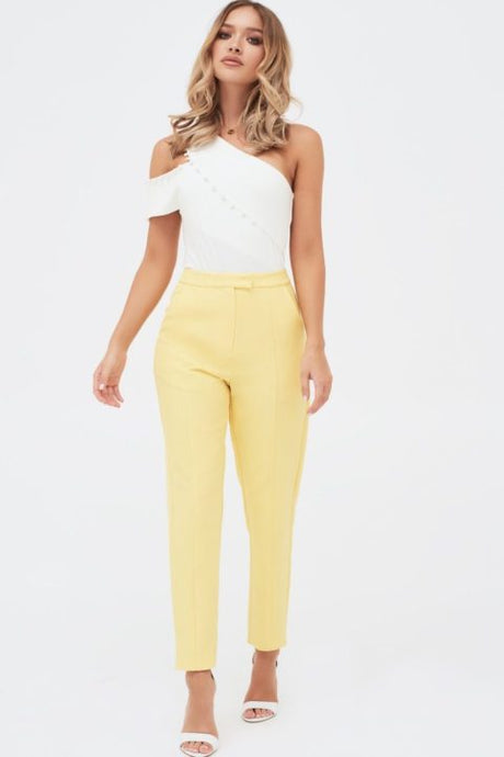 LAVISH ALICE YELLOW TAILORED TROUSERS