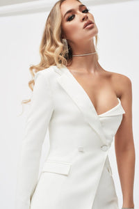 LAVISH ALICE ONE SHOULDER BODICE BLAZER