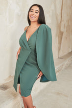 Load image into Gallery viewer, LAVISH ALICE ONE SHOULDER WRAP MIDI