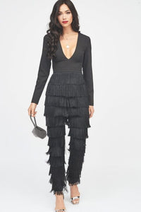 LAVISH ALICE FRINGE JUMPSUIT
