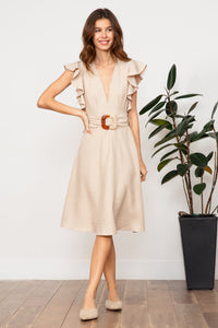 LUCY PARIS CELESTE BELTED DRESS