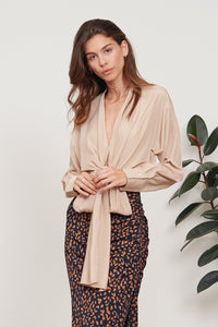 LUCY PARIS GLORIA WRAP TOP