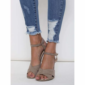 SHARON DISTRESSED ANKLE SKINNY JEANS