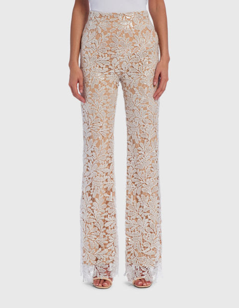 FOREVER UNIQUE JENNY FLORAL EMBROIDERED TAILORED SUIT TROUSERS