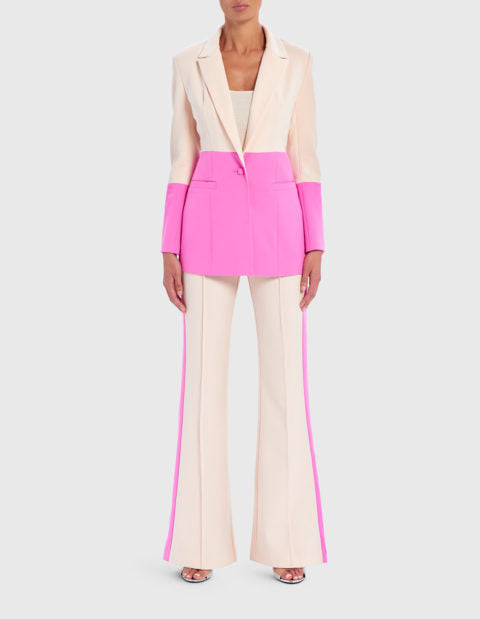 FOREVER UNIQUE LEIGHTON COLORBLOCK SUIT JACKET
