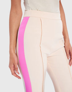 FOREVER UNIQUE YAVIN SIDE STRIPE WIDE LEG TROUSERS