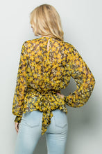 Load image into Gallery viewer, SHEER FLORAL PRINT BLOUSE