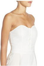 Load image into Gallery viewer, ADELYN RAE LACED UP WOVEN STRAPLESS JUMPSUIT