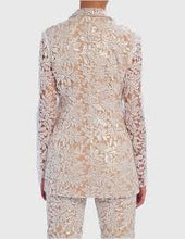 Load image into Gallery viewer, FOREVER UNIQUE SERENA FLORAL SEQUIN SHEER BLAZER JACKET
