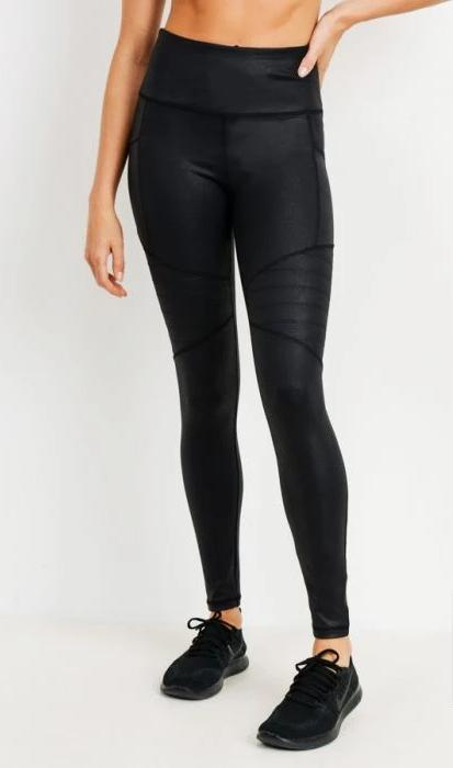 HIGHWAIST FOIL MOTO LEGGINGS