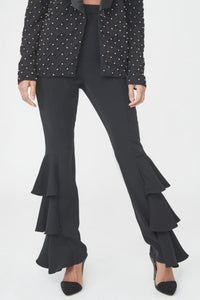 LAVISH ALICE FRILL SIDE TAILORED TROUSERS