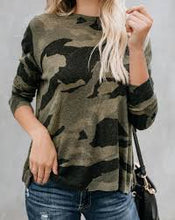 Load image into Gallery viewer, CAMO ZIP KNIT SWEATER