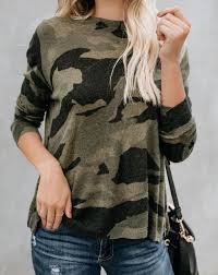 CAMO ZIP KNIT SWEATER