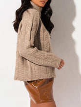Load image into Gallery viewer, FAITH CABLE KNIT SWEATER