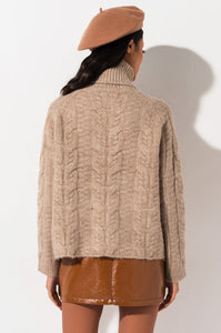 FAITH CABLE KNIT SWEATER