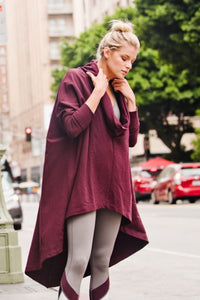 COWL HIGH LOW LONGLINE TUNIC