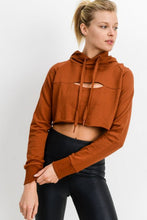 Load image into Gallery viewer, PEEKABOO CROP HOODIE SWEATSHIRT