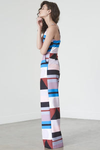 LAVISH ALICE MULTI ABSTRACT WIDE LEG JUMPSUIT