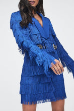Load image into Gallery viewer, LAVISH ALICE FRINGE TAILORED BLAZER DRESS
